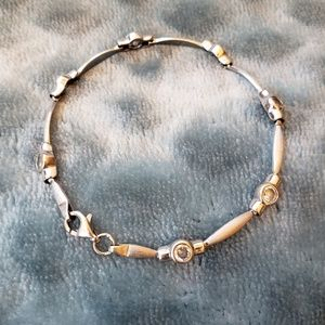 Jewelry - White gold and cubic zirconia bracelet